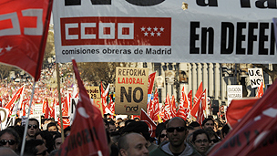 Demonstration in Madrid