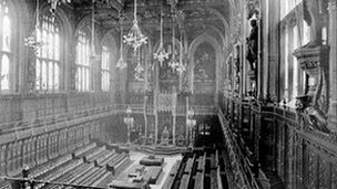 Empty second chamber, picture c. 1890