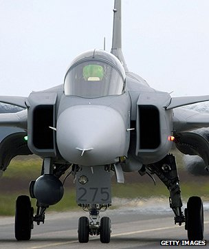 Saab JAS 39 Gripen fighter aircraft
