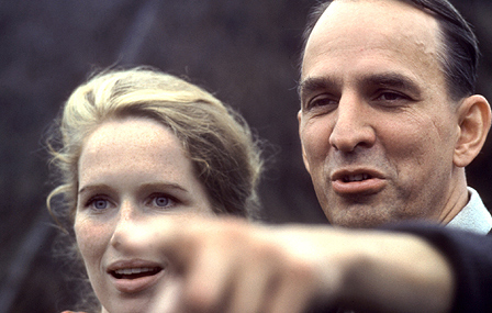 Ingmar Bergman, right, with Liv Ulmann in 1960