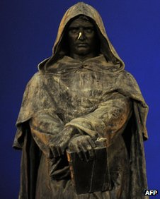 A statue of Giordano Bruno