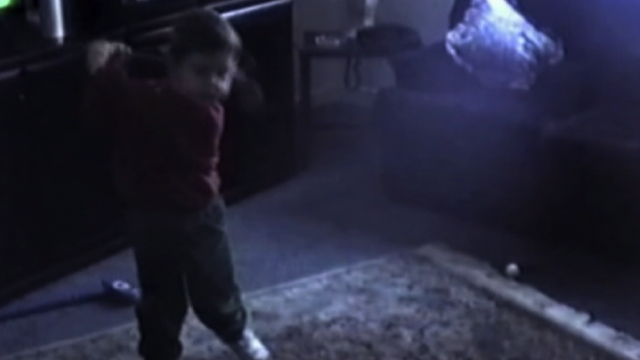 World number two golfer Rory McIlroy releases some home video footage of him showing off his golf swing on his third birthday, to mark his 23rd Birthday