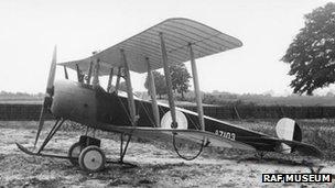 Avro 504 aircraft