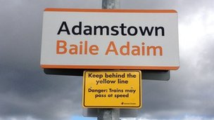 Adamstown sign post