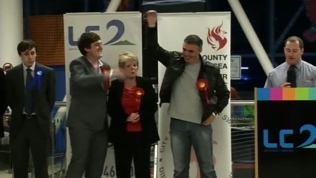 Labour celebrate victory in Swansea