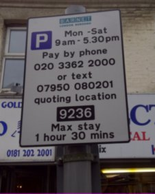 Parking notices in Barnet