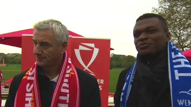 Liverpool legend Ian Rush and Chelsea hero Marcel Desailly discuss this year's FA Cup final between their former sides