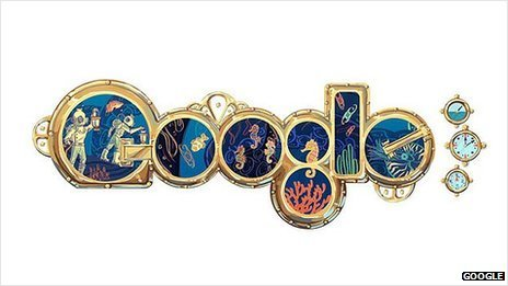 Google Jules Verne doodle