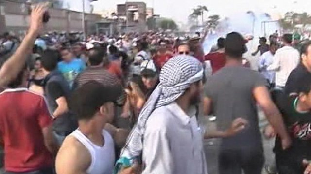 Protesters clash with security forces in Egypt