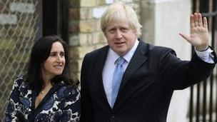 Boris Johnson and wife Marina
