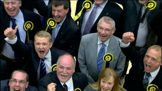 SNP councillors celebrate victory