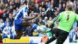 Michail Antonio scores for Sheffield Wednesday against Wycombe