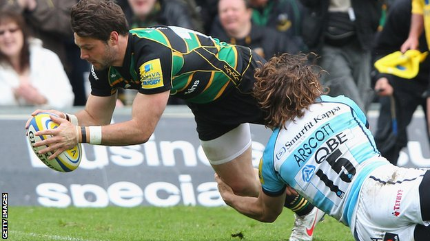 Ben Foden scores Northampton's second try