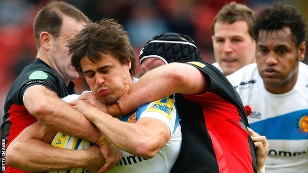 Saracens & Exeter in action