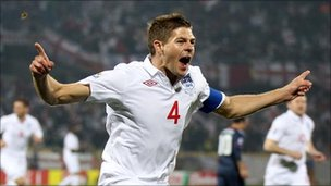 England and Liverpool player Steven Gerrard.