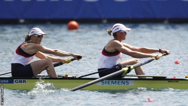 Helen Glover and Heather Stanning of Great Britain