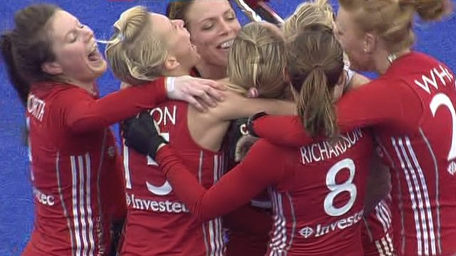 GB women celebrate