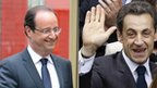 Francois Hollande and Nicolas Sarkozy (composite), 6 May