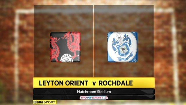 Leyton Orient 2-1 Rochdale