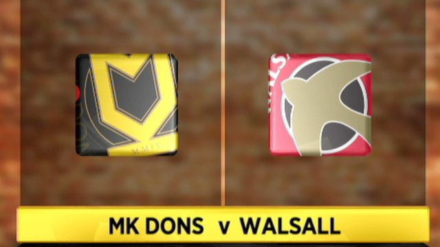 MK Dons 0-1 Walsall