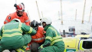 London Ambulance in search & rescue scenario