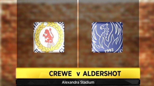 Crewe 2-2 Aldershot