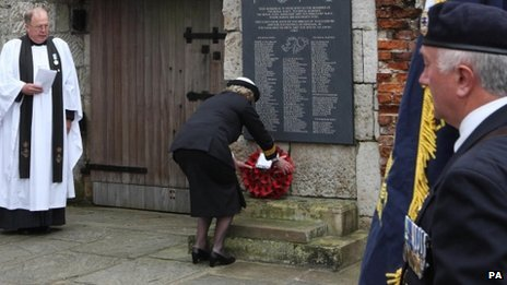 "Wreath-laying service at Portsmouth""s Anglican Cathedral"