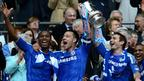 Chelsea players celebrate winning the FA Cup