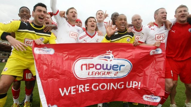 Crawley celebrate their promotion