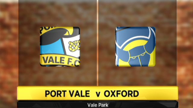 Port Vale 3-0 Oxford
