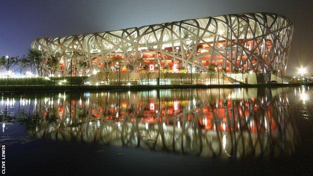 The 2008 Olympic Stadium in Beijing