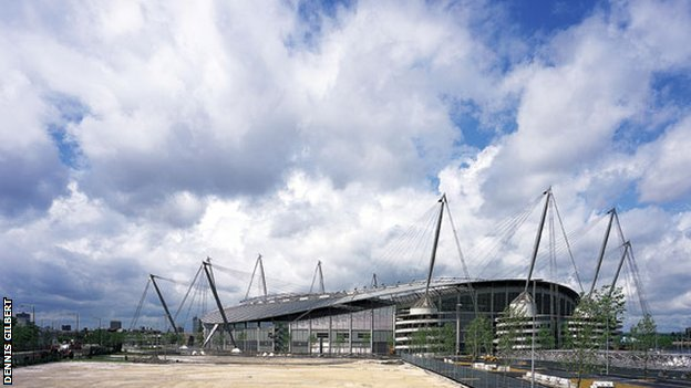 City of Manchester Stadium - otherwise known as the Etihad Stadium and home of Manchester City