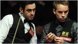 Ronnie O'Sullivan and Ali Carter