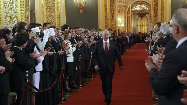 Vladimir Putin at Kremlin inauguration ceremony, 7 May 12