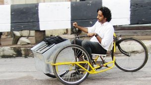 Somnath Ray's tricycle