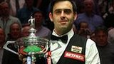 Ronnie O'Sullivan with the trophy