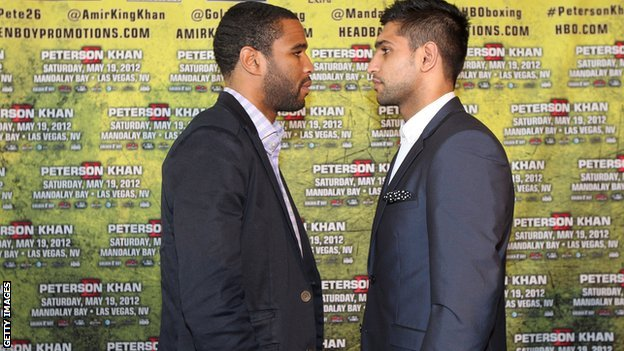 Lamont Peterson and Amir Khan