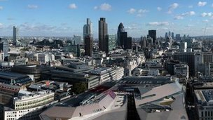 Skyline of City of London