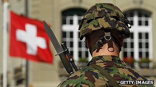 Swiss army soldier