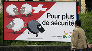 Swiss campaign poster