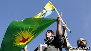 Pro-Kurdish demonstrators