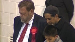 Third recount with Labour leader Ian Greenwood looking on