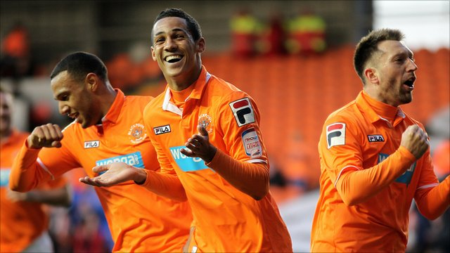 Blackpool midfielder Tom Ince