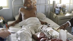 A patient in hospital in Lagos, Nigeria (Archive shot - 2009)