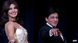 Priyanka Chopra and Shah Rukh Khan in Berlin at the premier of Don 2