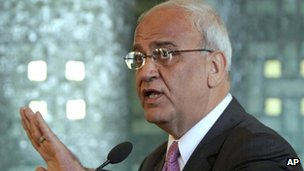chief Palestinian negotiator Saeb Erekat, file picture
