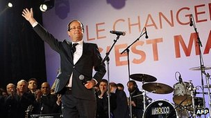 French President-elect Francois Hollande in Paris, 7 May 12