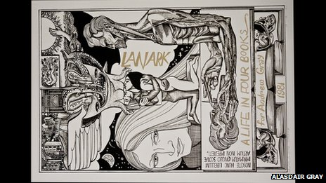 Lanark cover, by Alasdair Gray