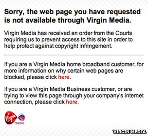 Virgin Media screenshot