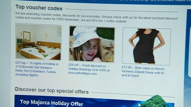 Screen shot of the advert